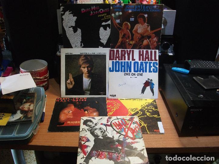 HALL & OATES (7) PRIVATE EYES + 6 SINGLE SPAIN 1981 PDELUXE (Música - Discos de Vinilo - Singles - Pop - Rock Internacional de los 80)