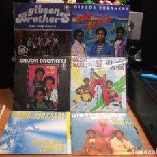 Discos de vinilo: GIBSON BROTHERS ( 6) SHEELA + NON STOP DANCE + ... SINGLE SPAIN 1977 PDELUXE. Lote 108880723