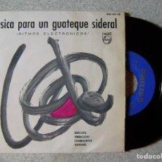 Discos de vinilo: MUSICA PARA UN GUATEQUE SIDERAL.RITMOS ELECTRONICOS.TOM DISSEVELT.SINCOPA + 3...EX. Lote 108885587