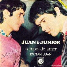Discos de vinilo: JUAN Y JUNIOR - TIEMPO DE AMOR + EN SAN JUAN SINGLE SPAIN 1968. Lote 108886103