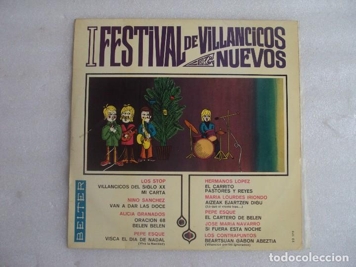 I FESTIVAL DE VILLANCICOS NUEVOS, LP EDICION 1967 BELTER. LOS STOP, NINO SANCHEZ, ALICIA GRANADOS... (Música - Discos - LP Vinilo - Otros Festivales de la Canción)
