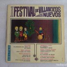 Discos de vinilo: I FESTIVAL DE VILLANCICOS NUEVOS, LP EDICION 1967 BELTER. LOS STOP, NINO SANCHEZ, ALICIA GRANADOS.... Lote 108886335