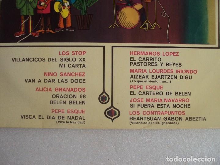 Discos de vinilo: I FESTIVAL DE VILLANCICOS NUEVOS, LP EDICION 1967 BELTER. LOS STOP, NINO SANCHEZ, ALICIA GRANADOS... - Foto 2 - 108886335