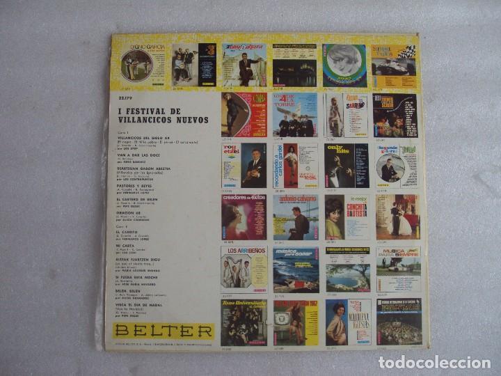 Discos de vinilo: I FESTIVAL DE VILLANCICOS NUEVOS, LP EDICION 1967 BELTER. LOS STOP, NINO SANCHEZ, ALICIA GRANADOS... - Foto 3 - 108886335