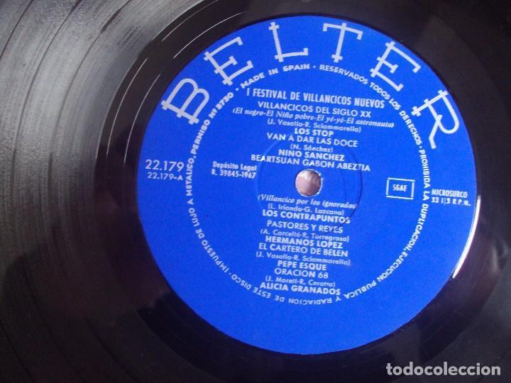 Discos de vinilo: I FESTIVAL DE VILLANCICOS NUEVOS, LP EDICION 1967 BELTER. LOS STOP, NINO SANCHEZ, ALICIA GRANADOS... - Foto 6 - 108886335