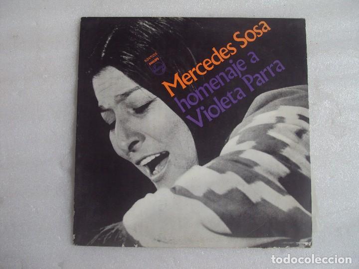 MERCEDES SOSA, HOMENAJE A VIOLETA PARRA, LP EDICION ARGENTINA, PHILIPS PHONOGRAM (Música - Discos - LP Vinilo - Cantautores Internacionales)