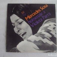 Discos de vinilo: MERCEDES SOSA, HOMENAJE A VIOLETA PARRA, LP EDICION ARGENTINA, PHILIPS PHONOGRAM. Lote 108886639