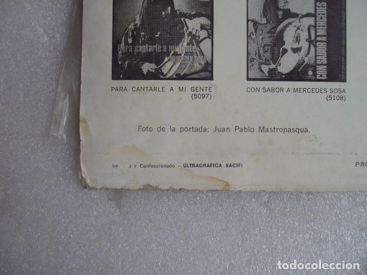 Discos de vinilo: MERCEDES SOSA, HOMENAJE A VIOLETA PARRA, LP EDICION ARGENTINA, PHILIPS PHONOGRAM - Foto 3 - 108886639