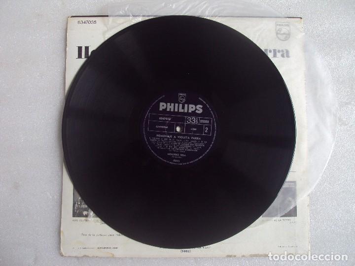 Discos de vinilo: MERCEDES SOSA, HOMENAJE A VIOLETA PARRA, LP EDICION ARGENTINA, PHILIPS PHONOGRAM - Foto 4 - 108886639