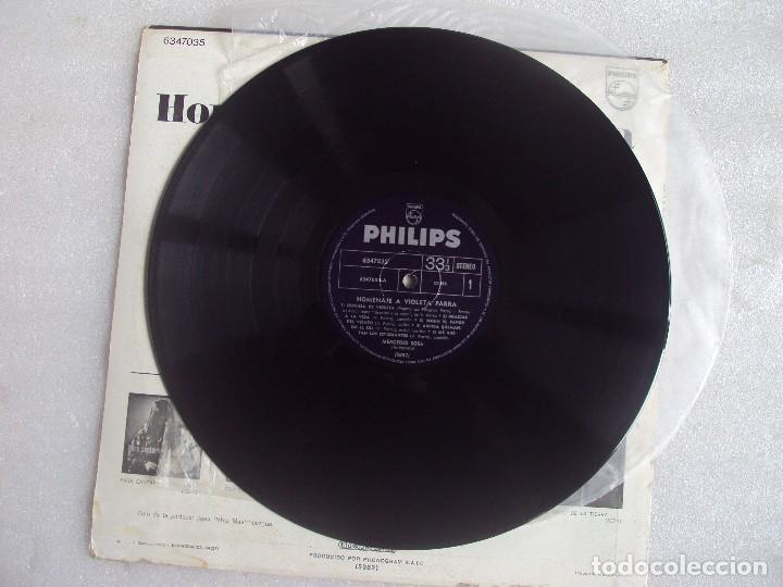 Discos de vinilo: MERCEDES SOSA, HOMENAJE A VIOLETA PARRA, LP EDICION ARGENTINA, PHILIPS PHONOGRAM - Foto 5 - 108886639