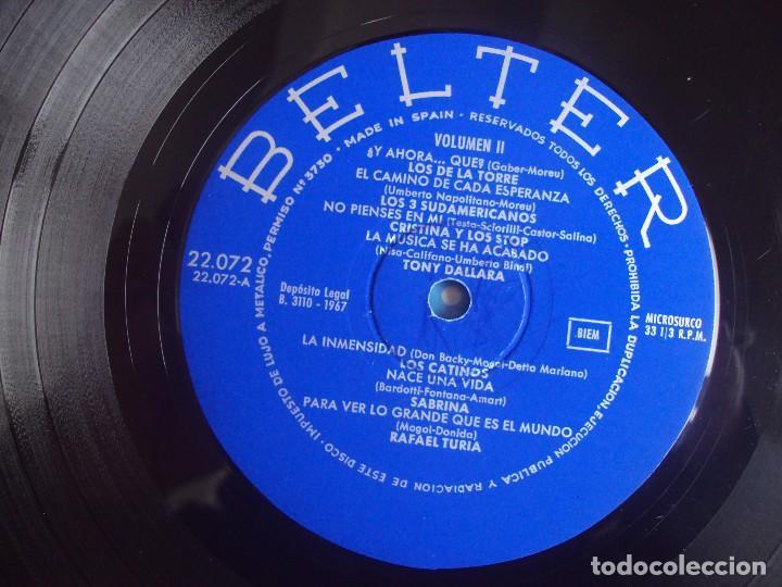 Discos de vinilo: TODAS LAS CANCIONES DE SAN REMO EN ESPAÑOL VOL.2. LP EDICION ESPAÑOLA 1967, BELTER. - Foto 6 - 108887623