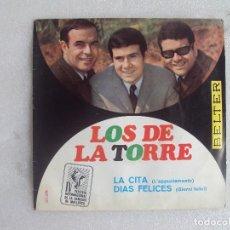 Discos de vinilo: LOS DE LA TORRE, IV FESTIVAL INTERNACIONAL DE LA CANCION DE MALLORCA, SINGLE EDICION ESPAÑOLA 1967 . Lote 108888875