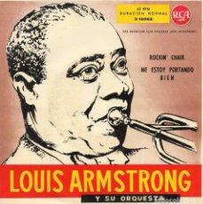 Discos de vinilo: LOUIS ARMSTRONG Y SU ORQUESTA, SG, ROCKIN´CHAIR + 1, AÑO 1959. Lote 108898795