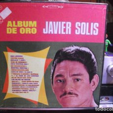 Discos de vinilo: JAVIER SOLIS ALBUM DE ORO CAJA TRIPLE LP MEXICO CBS. Lote 108912815