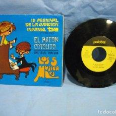 Discos de vinilo: SINGLES III FESTIVAL DE LA CANCIÓN INFANTIL TVE 1970. Lote 108920767