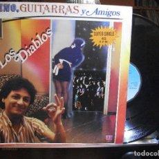 Discos de vinilo: LOS DIABLOS - VINO, GUITARRAS Y AMIGOS - MAXI SINGLE - DISCOS BELTER 1983. Lote 108934167