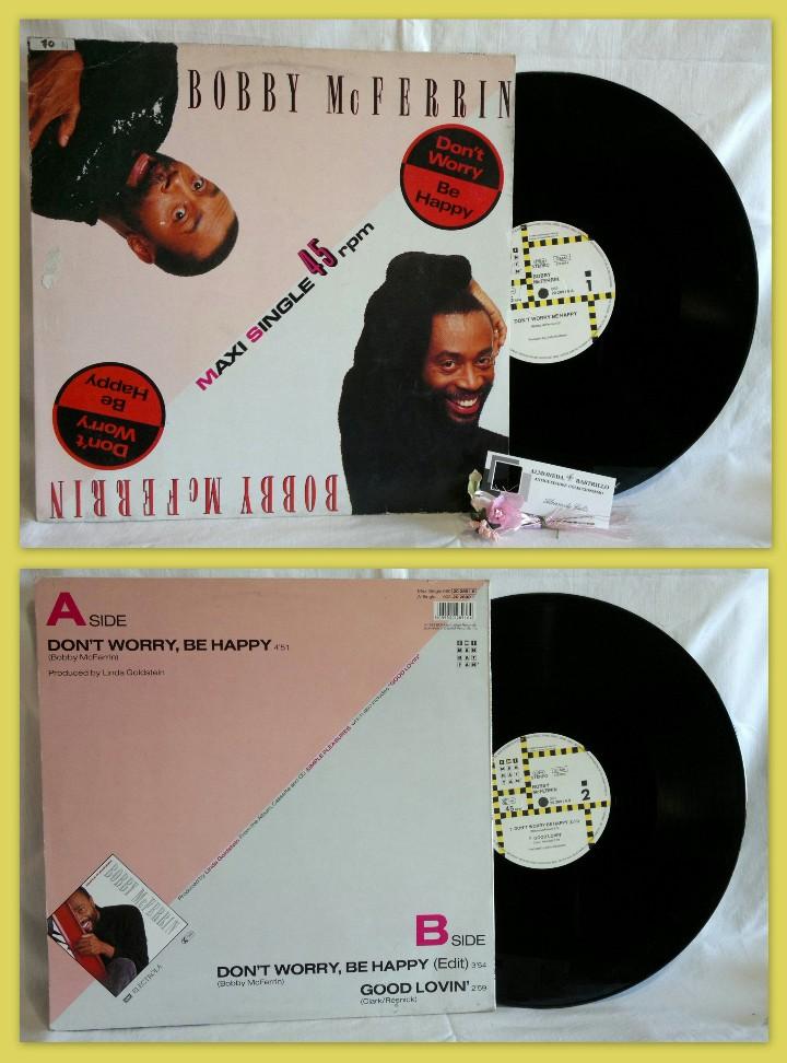 BOBBY MCFERRIN ?– DON'T WORRY, BE HAPPY (Música - Discos de Vinilo - Maxi Singles - Funk, Soul y Black Music)