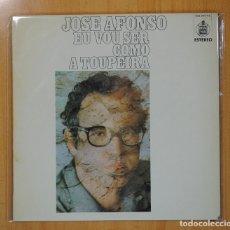 Discos de vinilo: JOSE AFONSO - EU VOU SER COMO A TOUPEIRA - LP. Lote 108995650