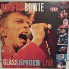 Discos de vinilo: DAVID BOWIE - GLASS SPIDER LIVE - 2 X LP - GATEFOLD - 2008 - HOLLAND - EX+/NM+. Lote 109015047