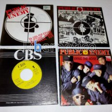 Discos de vinilo: PUBLIC ENEMY ??– 911 IS... –BLACK STEEL...?–BRING THE NOISE–ANTI-NIGGER...- 4 SINGLES PROMO- EX EX. Lote 107004387