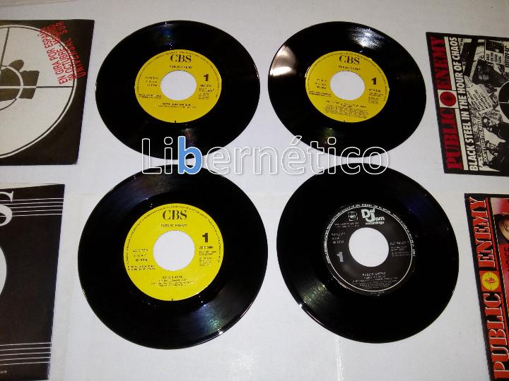 Discos de vinilo: Public Enemy ??– 911 Is... –Black Steel...?–Bring The Noise–Anti-Nigger...- 4 singles Promo- EX EX - Foto 2 - 107004387