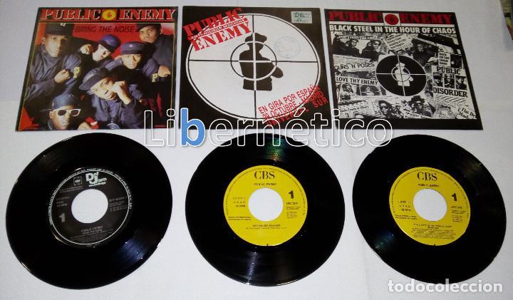 Discos de vinilo: Public Enemy ??– 911 Is... –Black Steel...?–Bring The Noise–Anti-Nigger...- 4 singles Promo- EX EX - Foto 3 - 107004387