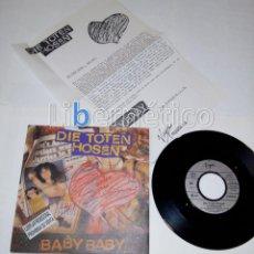 Discos de vinilo: DIE TOTEN HOSEN ?– BABY BABY - SINGLE PROMO - VIRGIN 1991 - PUNK. Lote 109038955