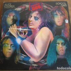 Discos de vinilo: ALICE COOPER - SCHOOL DAYS **** RARO LP DOBLE ESPAÑOL 1973. Lote 109043099