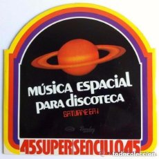 Discos de vinilo: SATURNE EA 1 / ROCK ODYSSEY - MAGIC FLY / TRIBUTE TO ELVIS (HOMENAJE A ELVIS) 12' MOVIEPLAY 1978. Lote 109062915