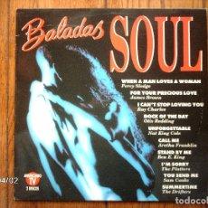 Discos de vinilo: BALADAS SOUL - PERCY SLEDGE + JAMES BROWN + RAY CHARLES + OTIS REDDING ..... Lote 109068067