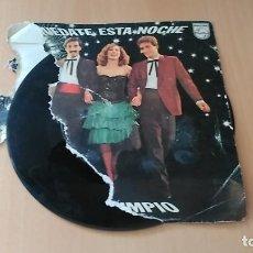 Discos de vinilo: TRIGO LIMPIO - QUEDATE ESTA NOCHE + DE PROFESION BRIBON (EUROVISION SPAIN 1980). Lote 109075279