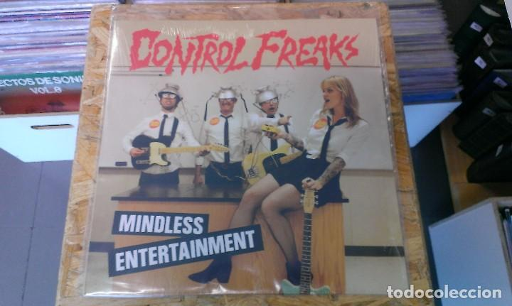 LP CONTROL FREAKS MINDLESS ENTERTAINMENT GARAGE ROCK VINILO (Música - Discos - LP Vinilo - Pop - Rock Extranjero de los 90 a la actualidad)