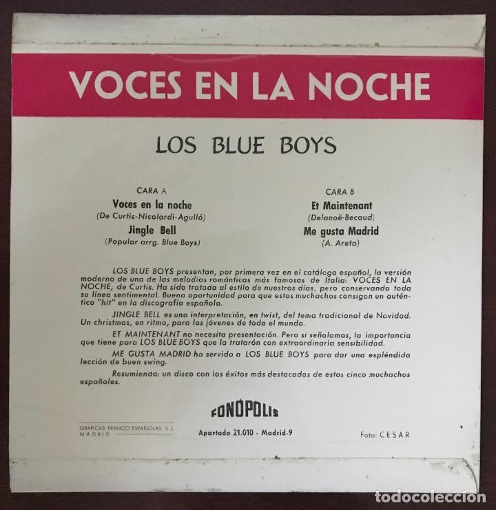 """Discos de vinilo: Los Blue Boys """" voces en la noche """" Fonopolis EP - Foto 2 - 109080191"""