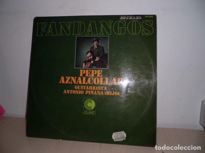 FANDANGOS -PEPE AZNALCOLLAR GUITARRISTA ANTONIO PIÑANA -HIJO-TIENES LA CARA DIVINA-CLAVE - (Música - Discos - LP Vinilo - Flamenco, Canción española y Cuplé)
