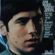 Discos de vinilo: JOAN MANUEL SERRAT - ARA QUE TINC 20 ANYS - EDICIÓN DE 1966 DE ESPAÑA. Lote 109092799