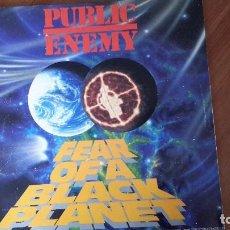 Discos de vinilo: PUBLIC ENEMY. FEAR OF A BLACK PLANET. Lote 109100075