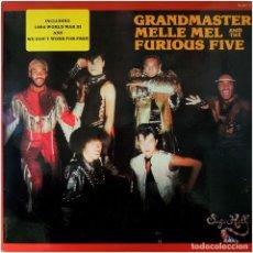 Discos de vinilo: GRANDMASTER MELLE MEL & THE FURIOUS FIVE - LP PROMO SPAIN 1984 - ZAFIRO/SUGAR HILL ZL-627. Lote 109124075