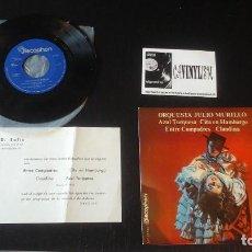 Discos de vinilo: ORQUESTA JULIO MURILLO EP DISCOPHON 1971 AZUL TURQUESA/ CITA EN HAMBURGO/ ENTRE COMPADRES / CLAUDINA. Lote 109131243