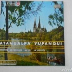 Discos de vinilo: ATAHUALPA YUPANQUI. SINGLE CON 4 CANCIONES: MALAMBO - EL KACHORRO - ME VOY - LA VIAJERITA. RCA-VICTO. Lote 109146447