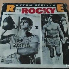 Disques de vinyle: RHYTHM HERITAGE - TEMA DE ROCKY + LAST NIGHT ON EARTH. Lote 109156591