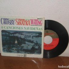 Discos de vinilo: BING CROSBY & FRANK SINATRA & FRED WARING 7´´ MEGA RARE EXTENDED PLAY SPAIN 1964. Lote 109163787