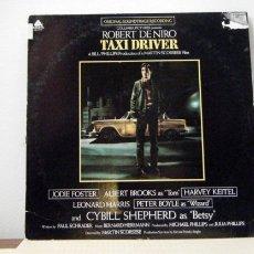 Discos de vinilo: TAXI DRIVER / B.S.O. BERNARD HERRM ROBERT DE NIRO, JODIE FOSTER, HARVEY KEITEL / ORIG EDIT USA - EXC. Lote 109169224