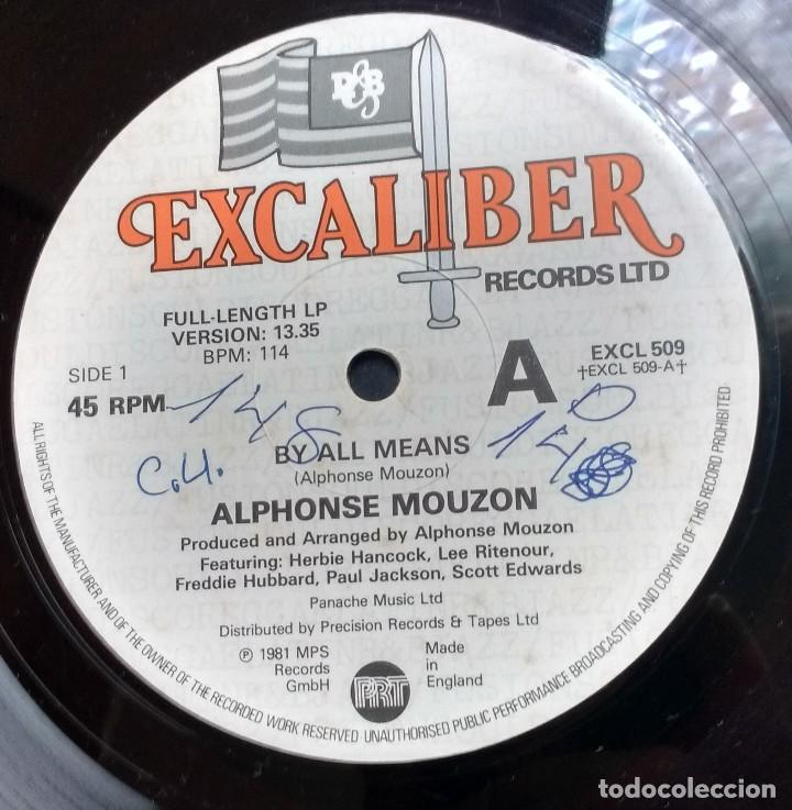 Discos de vinilo: Alphonse Mouzon – By All Means. EDICION UK - Foto 2 - 109169315