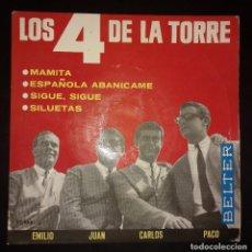 Discos de vinilo: LOS 4 DE LA TORRE - EP MAMITA + 3 BELTER. Lote 109170579