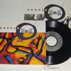 Discos de vinilo: SINGLE - SOUL II SOUL - PEOPLE / FEELIN' FREE - CON HOJA PROMOCIONAL - SOUL II SOUL. Lote 109180147