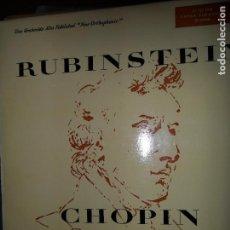 Discos de vinilo: CHOPIN, CONCIERTO Nº 1, RUBINSTEIN. Lote 109183851