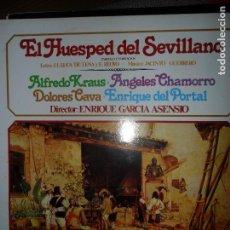 Discos de vinilo: EL HUÉSPED DEL SEVILLANO, VVAA, CORO CANTORES DE MADRID. Lote 109194483