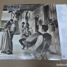Discos de vinilo: EROS RAMAZZOTTI (LP) EN CIERTOS MOMENTOS AÑO 1987 – HOJA CON LETRAS. Lote 109195031