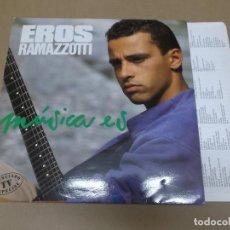 Discos de vinilo: EROS RAMAZZOTTI (LP) MUSICA ES AÑO 1988 – HOJA CON LETRAS. Lote 109195179