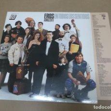 Discos de vinilo: EROS RAMAZZOTTI (LP) EN TODOS LOS SENTIDOS AÑO 1990 – HOJA CON LETRAS. Lote 109195411